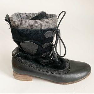 Pajar Canada Black Grey Winter Flat Boots 10